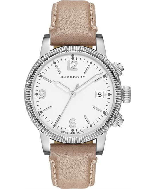 Burberry The Utilitarian Women's Swiss Leather Strap Watch 38mm