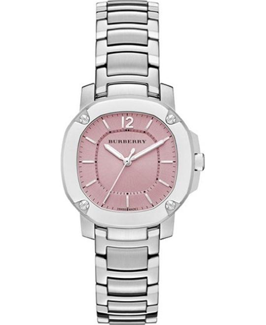BurberryThe Britain Women's Pink Dial Stainless Steel Watch 34mm
