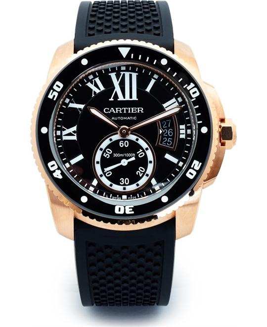 CALIBRE W7100052 DE CARTIER DIVER BLACK WATCH 42mm