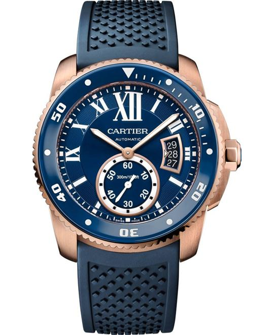 CALIBRE DE CARTIER DIVER BLUE WATCH 42MM