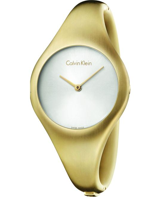 Calvin Klein Bare Gold Steel Watch  34mm
