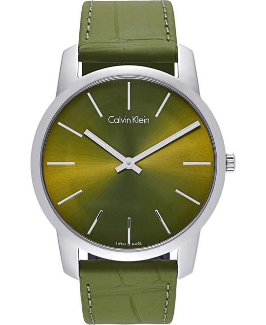Calvin Klein City Green Quartz Watch 43mm