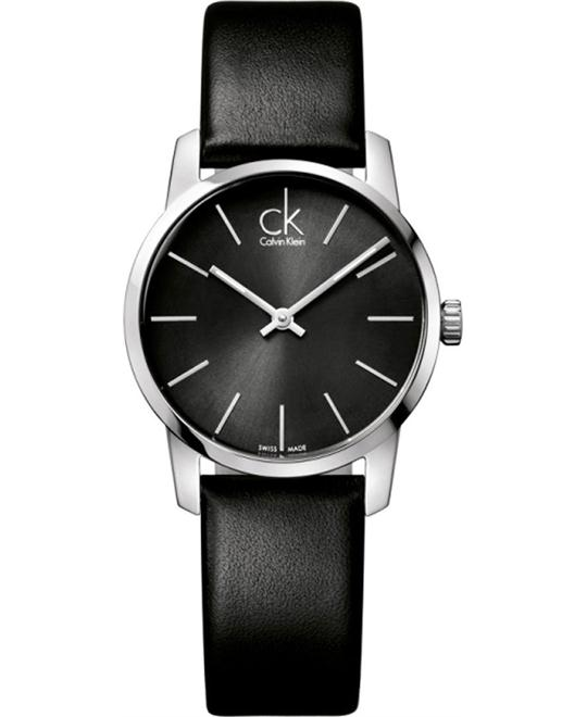 Calvin Klein City Leather Ladies Watch 31mm