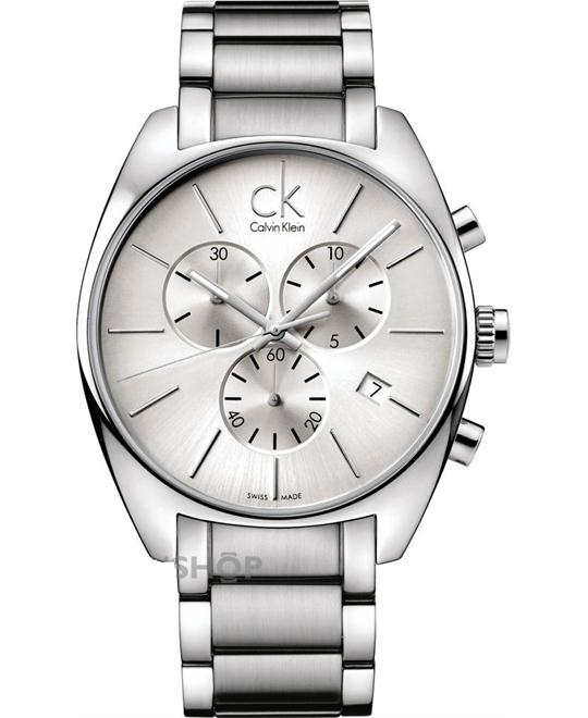 Calvin Klein Men's Exchange Swiss Silver Watch 44mm