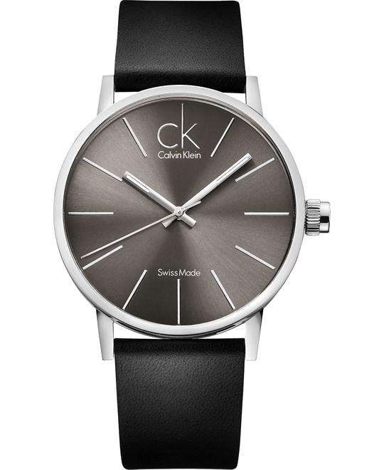 Calvin Klein Men's Swiss Black Leather 42mm