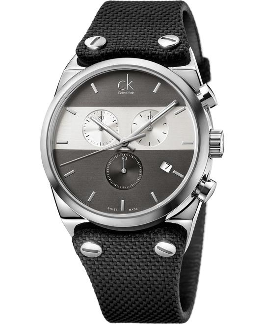 Calvin Klein Men's Swiss Chronograph Strap 45mm