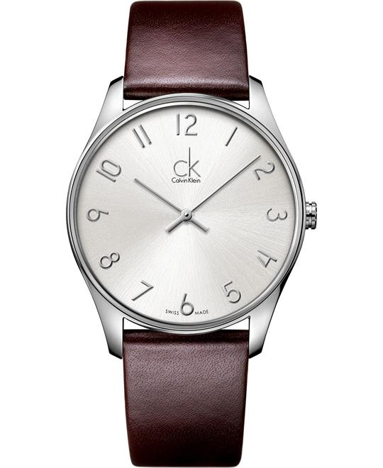 Calvin Klein Men's Swiss Classic Leather 38mm