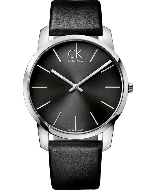 Calvin Klein Men's Swiss Leather 43mm