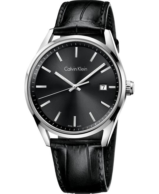 Calvin Klein Men's Swiss Leather 44mm