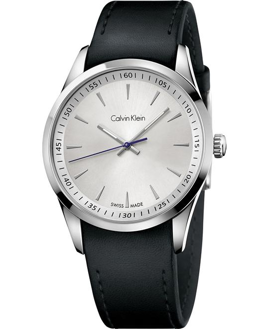 Calvin Klein Men's Swiss Leather Strap 41mm
