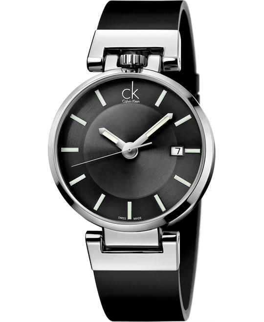 Calvin Klein Men's Swiss Leather Strap 42mm