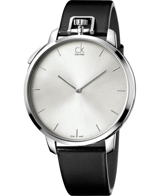Calvin Klein Men's Swiss Leather Strap 48mm