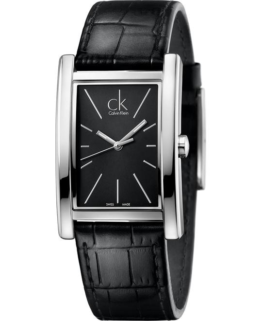 Calvin Klein Men's Swiss Refine Black Watch 45x30mm