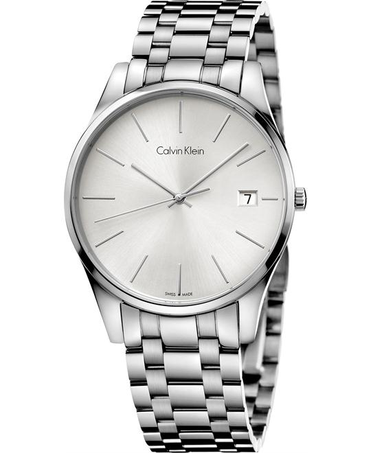Calvin Klein Men's Swiss Time Stainless 40mm