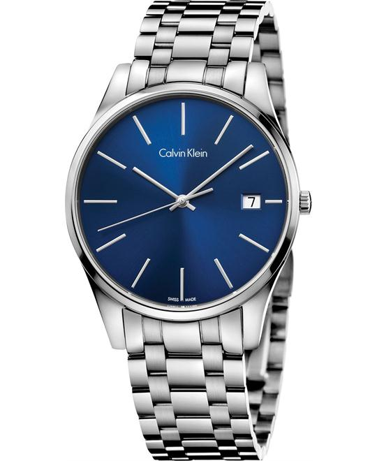 Calvin Klein Men's Swiss Time Stainless Watch 40mm