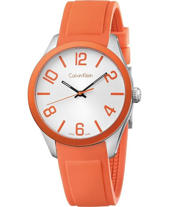 Calvin Klein Orange Silicone Strap Watch 40mm