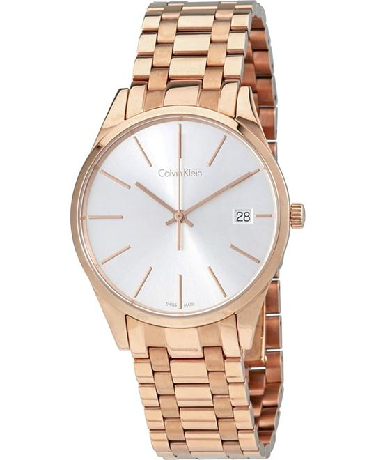CALVIN KLEIN Rose Gold-tone Ladies Watch 36mm