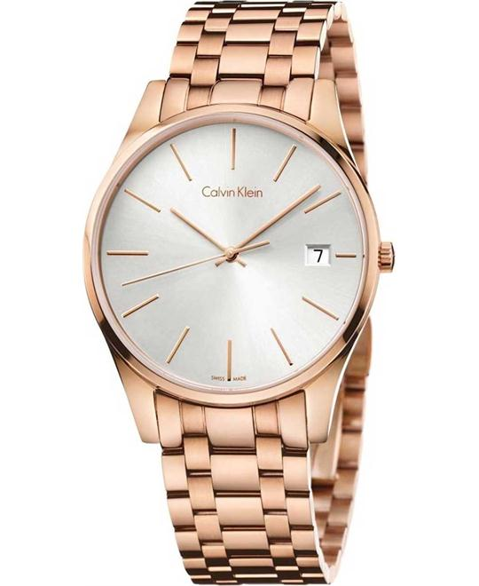 Calvin Klein Time Rose Gold-Tone Watch 40mm