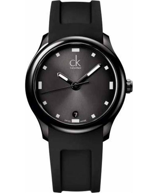 Calvin Klein Visible Men's Display Swiss Black Watch 41mm
