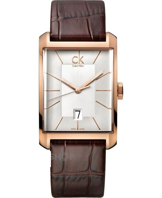 Calvin Klein Window Leather Mens Watch 31mm
