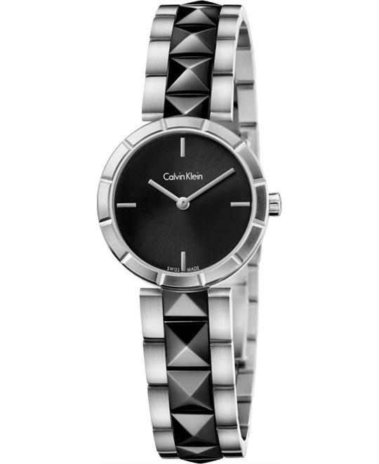 Calvin Klein Women's Swiss Edge Black PVD Watch 30mm