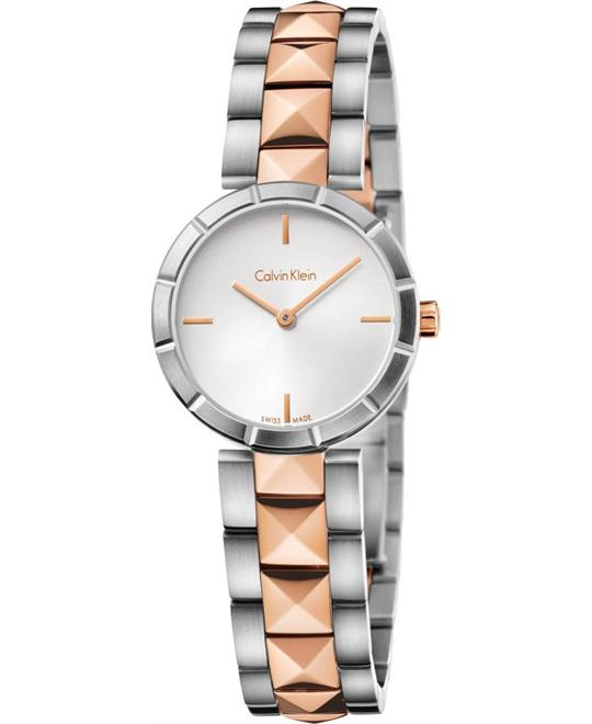 Calvin Klein Women's Swiss Edge Rose Gold PVD Watch 30mm