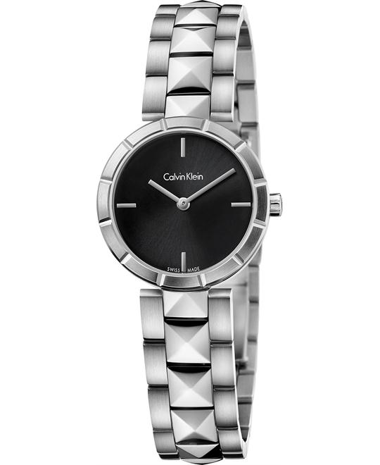 Calvin Klein Women's Swiss Edge Studded Watch 30mm