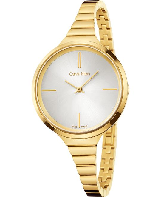 Calvin Klein Women's Swiss Lively Gold PVD Watch 34mm