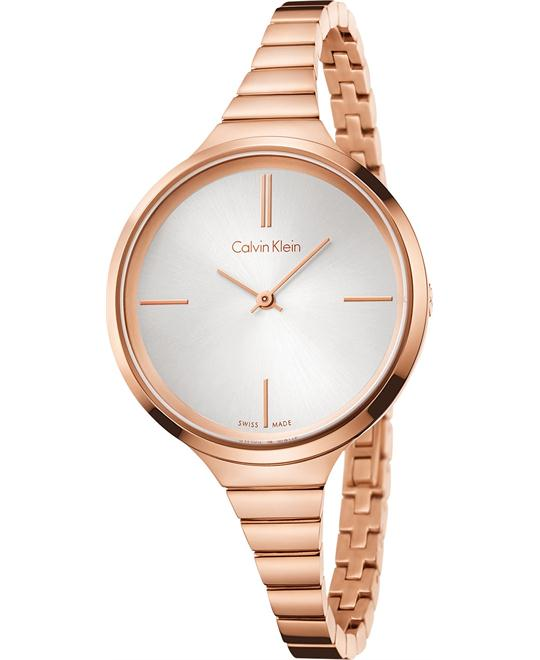 Calvin Klein Women's Swiss Lively Rose Gold Watch 34mm