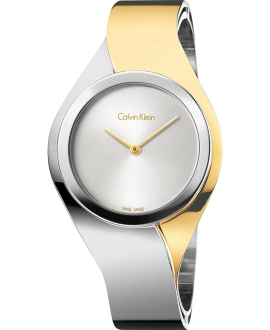 Calvin Klein Women's Swiss Senses Two-Tone Watch 27mm