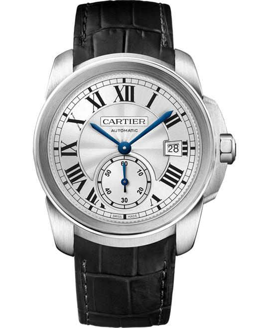 CARTIER WSCA0003 Calibre de Cartier Silver Watch 38mm