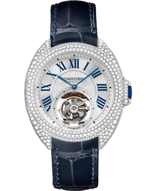 CARTIER HPI00933 CLÉ DE FLYING TOURBILLON WATCH 35MM