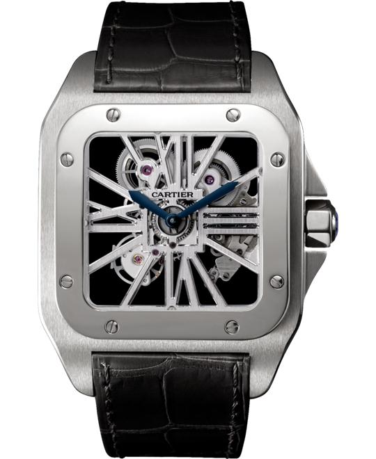CARTIER W2020018 Santos 100 Skeleton 46.5mmx54.9mm