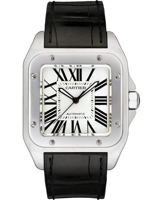 CARTIER W20073X8 Santos 100 Auto Watch 51.1x41.3mm