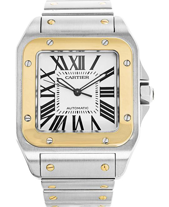 Cartier Santos W200728G 100 Men's Watch 38mm