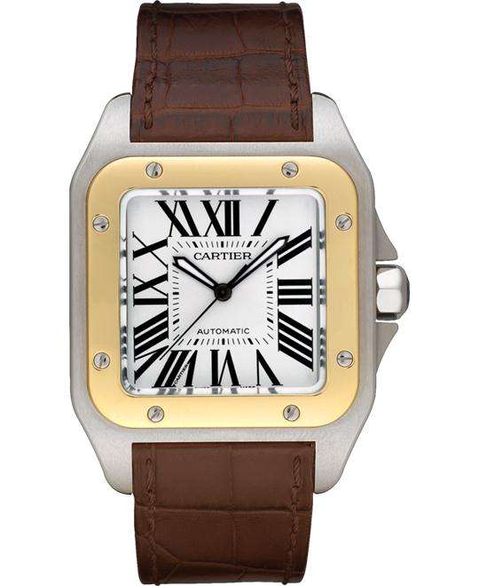 CARTIER Santos Yellow Gold Automatic Watch  51.1 mm x 41.3 mm