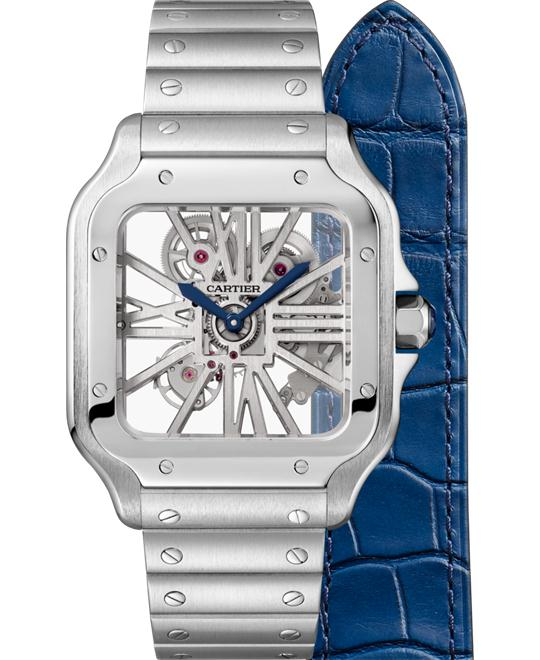 đồng hồ Cartier WHSA0007 Santos Skeleton watch 39.8mm
