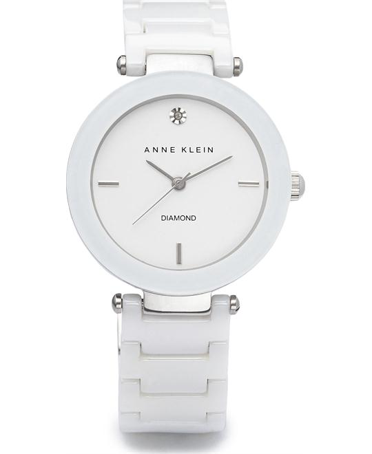 ANNE KLEIN CERAMIC LINK BRACELET WATCH, 33mm