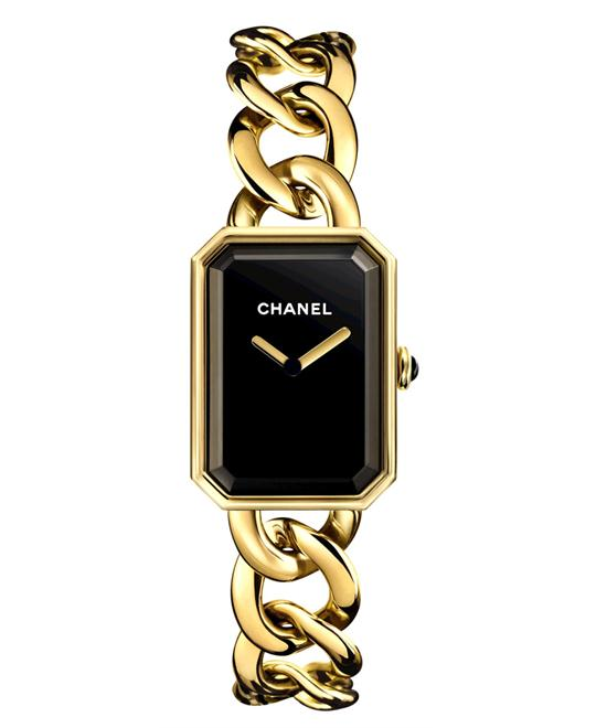 Chanel h3257 Ladies Premiere Gold Polished 20mmX28mm