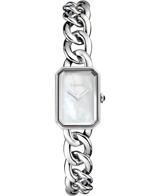 Chanel Ladies Premiere Stainless Steel Sapphire 16mm X 22mm