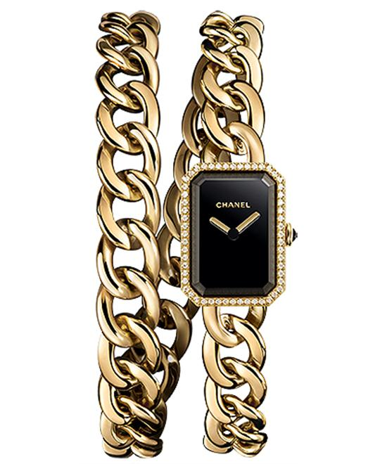 Chanel h3750 Premiere Ladies 18kt Yellow Gold 16mm X 22mm