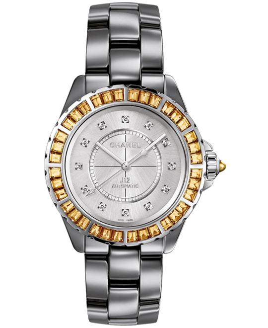 Chanel h3125 Unisex Ceramic Grey Solid Automatic 38mm