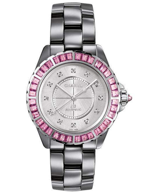 Chanel h3295 Unisex Ceramic Grey Solid Silver 38mm
