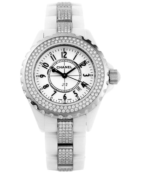 Chanel H1420 Unisex Quartz Ceramic White Sapphire 33mm