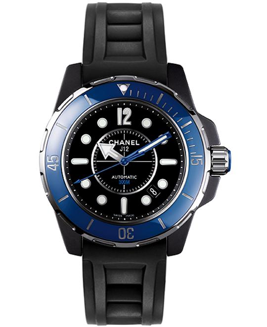 Chanel Unisex Rubber Sapphire Automatic 38mm