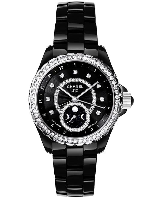 Chanel Unisex Sapphire Ceramic Black Automatic 38mm