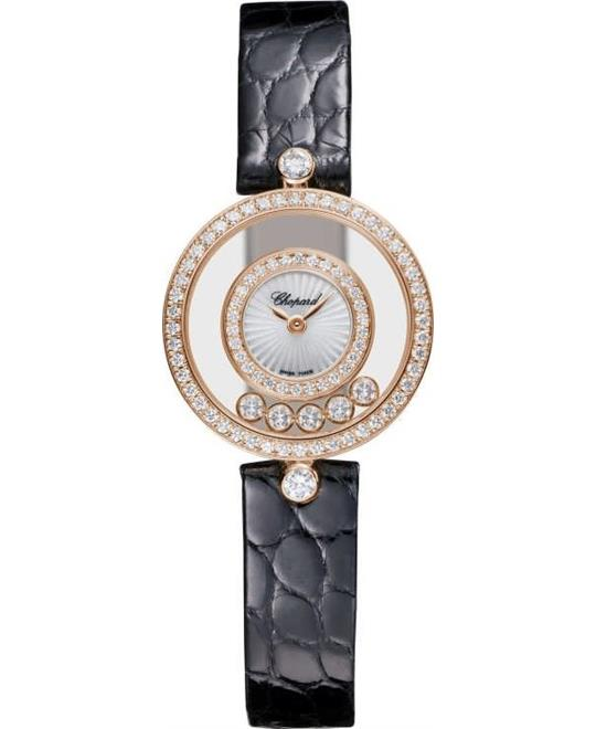 Chopard Happy Diamonds 203957-5214 18k Rose 25.8mm