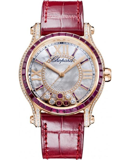 CHOPARD Happy Sport Diamonds and Rubies Ladies Watch 36mm