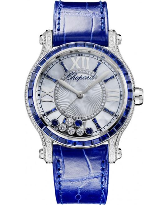 CHOPARD Happy Sport Diamonds and Sapphires Ladies Watch 36mm
