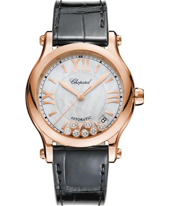 CHOPARD 274808-5008  Happy Sport Guilloche Watch 36mm
